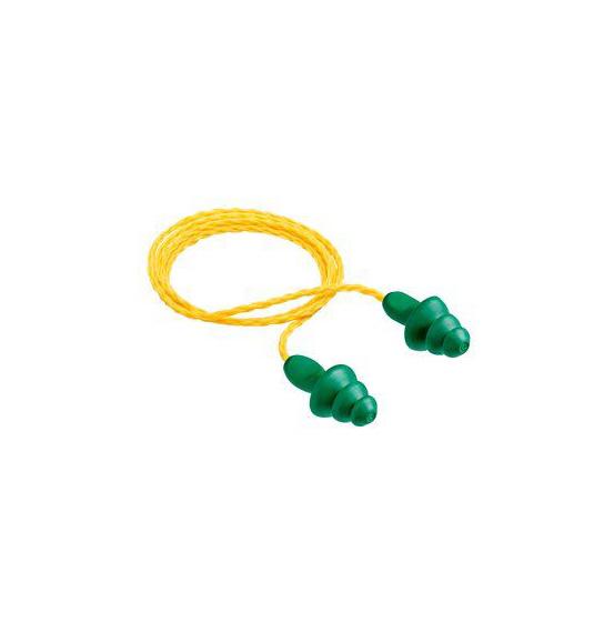 3M 1200 Tapón Auditivo con cordón verde